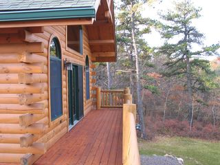 Emerald Lakes house photo - Front side of wraparound deck