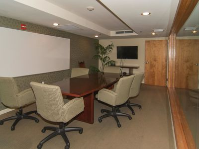 A Business Center with wifi is available for use in the building
