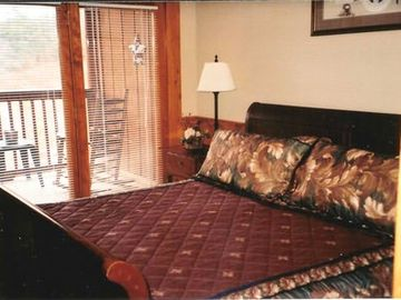 Upstairs Master Bedroom/King Sleigh Bed with Private Balcony