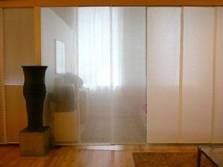 Tribeca apartment rental - Sleeping area with divider closed