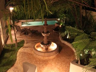 Cabo San Lucas house photo - The lovely mexican fountain in the beautiful tropical garden of Casa Esquina.