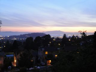 Berkeley apartment photo - View at sunset. It is never the same