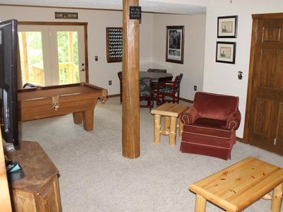 Open Basements with Pool Table, Nintendo Wii, Dart Board, Board Games, etc