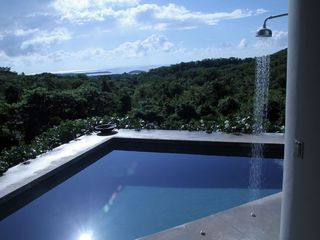 Vieques Island villa photo - pool with deck shower