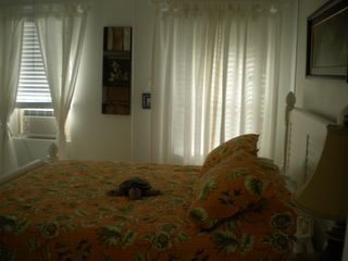 Cherokee Sound property rental photo - East bedroom with window A/C