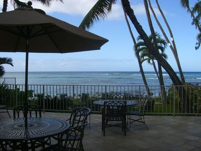 Enjoy the makai lanai of the Diamond Head Beach Hotel & Residences