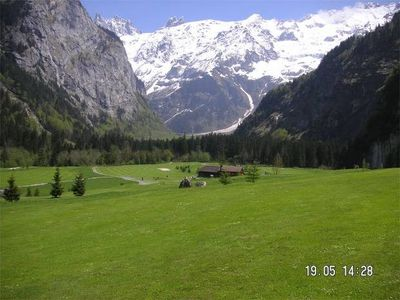 Looking east, golfing in Engelberg