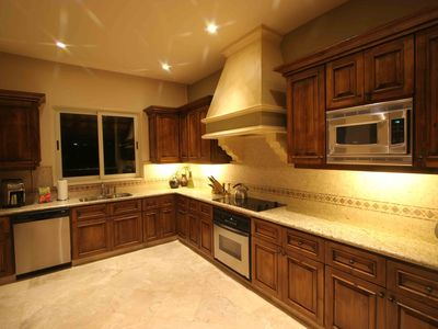 Fully equipped kitchen with modern appliances