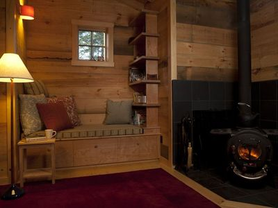 Reading nook and Vermont Elm wood stove