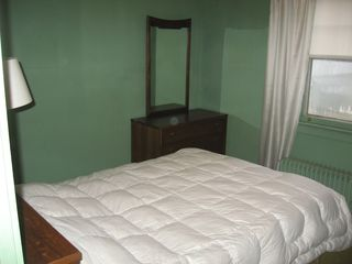 Lake Placid house photo - Green bedroom - double bed