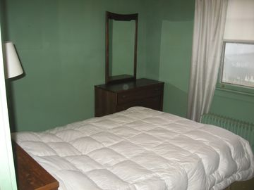 Green bedroom - double bed