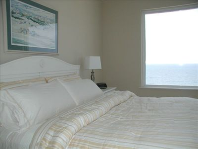 Master bedroom w/ view of Gulf
