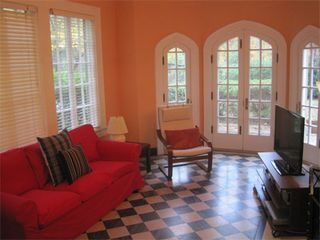 Atlanta house photo - Sun room with Tudor style doors opens to front patio