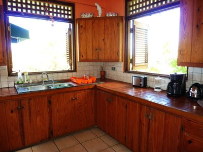 The kitchen, Villa Frangipani