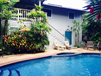 The Kukui House and pool