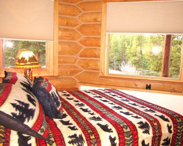 Guest Bedroom 2- Queen size bed with amazing forest views, bottom floor.