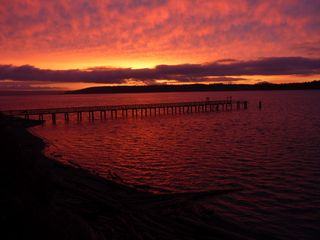 Oak Harbor house photo - Winter Sunrise Magic. One spot to enjoy BOTH sunrise and sunset in winters. Wow.