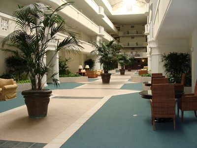 Blue Mountain Beach condo rental - interior atrium (great for a rainy day)