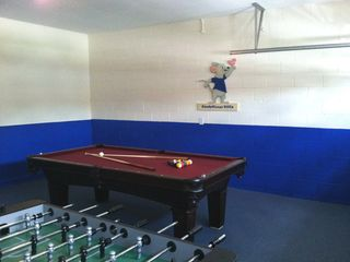 Windsor Palms villa photo - Games Room with 8' slate pool table and foosball