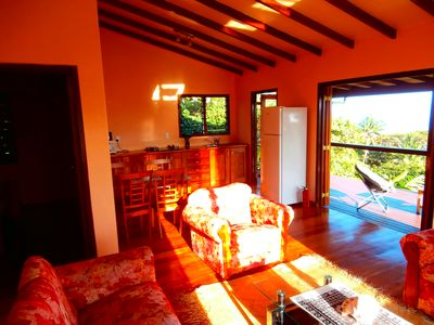 Savusavu villa rental - very spacious living room with fully equipped kitchen and dining of Villa B.B.