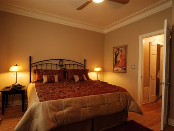 Apt.1- Upper level bedroom with King bed