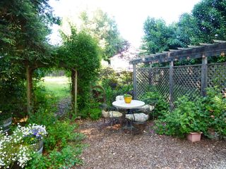 Healdsburg cottage photo - Cozy backyard space is perfect for enjoying your morning coffee.