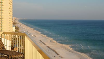 Magnificent views for miles down the Gulf front!! Watch the dolphins frolic!!