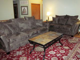 Galena house photo - Comfortable seating to enjoy the fireplace and each other's company