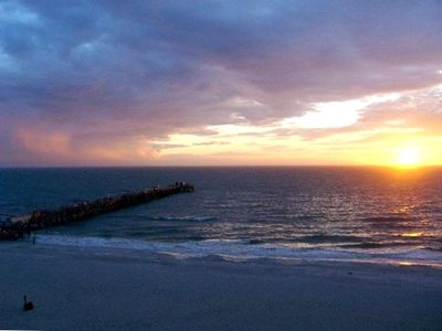 Sunset view from balcony over looking Redington Long Pier