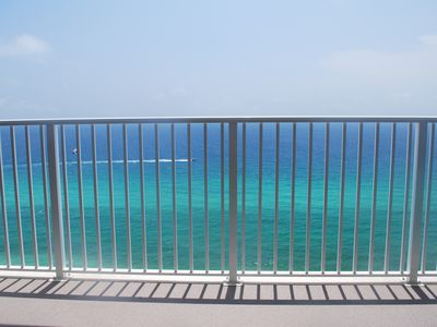 Endless emerald water views from your own private balcony