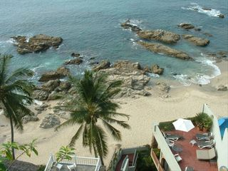Puerto Vallarta villa photo - View of our Beach - Sun Terrace of Vida Mar
