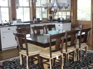 Acton lodge photo - Kitchen table: seats 8 comfortably.