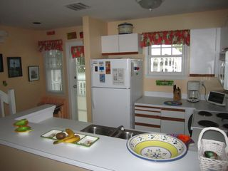 Key West condo photo - The kitchen and the front door.