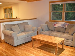 Lake Placid house photo - Wide open living room