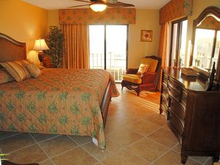 Indian Rocks Beach condo photo - Luxurious master bedroom with double sweeping Gulf views