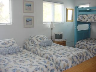 Brant Beach house photo - 2nd flr. BR: Bunk bed and 2 twins - push twins together to make king, TV.