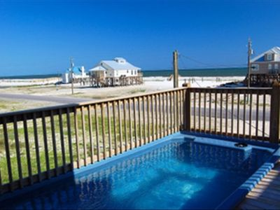 View from pool and deck area overlooking the Gulf of Mexico