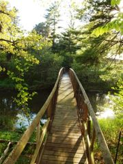 Montague cabin photo - Our charming bridge - perfect spot to fish!