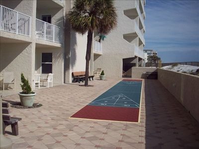 Shuffleboard Court Just Steps from our Patio