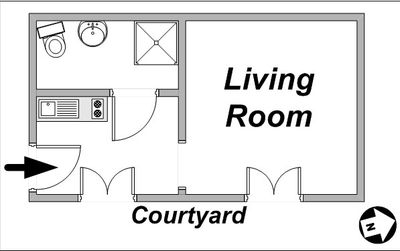Floor plan of studio