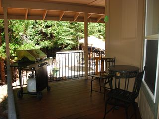 Mount Lassen house photo - wrap around side/back deck bbq area