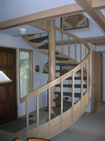 one of two staircases