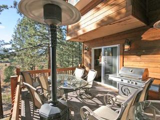 Black Bart house photo - Huge deck with BBQ, heat lamp and tables and chairs off the kitchen.