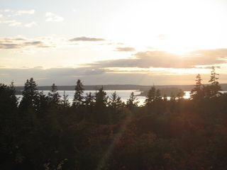 Seal Harbor house photo - Sunset from outside porch #2