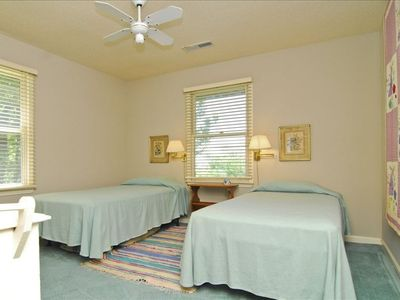 Guest room 4 with twin beds and adjoining bath