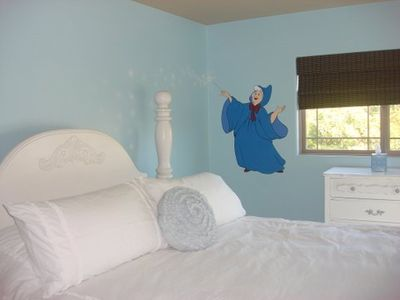 Anaheim house rental - Upstairs Cinderella bedroom, king bed.