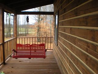 Nancy cabin photo - Front porch with swing