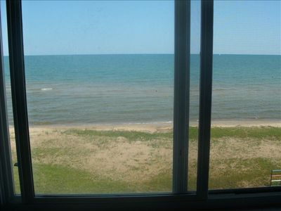 Oscoda chalet rental - view from loft window