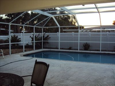 Fullly screened lanai and pool