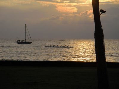Go into town to the Kona Villiage and enjoy the shopping and the sunset
